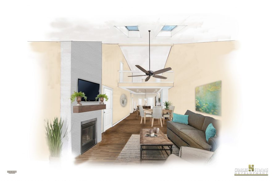 Cottages of Beavercreek living area mockup