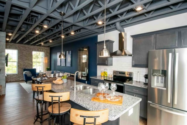 Center Street Townes model home kitchen