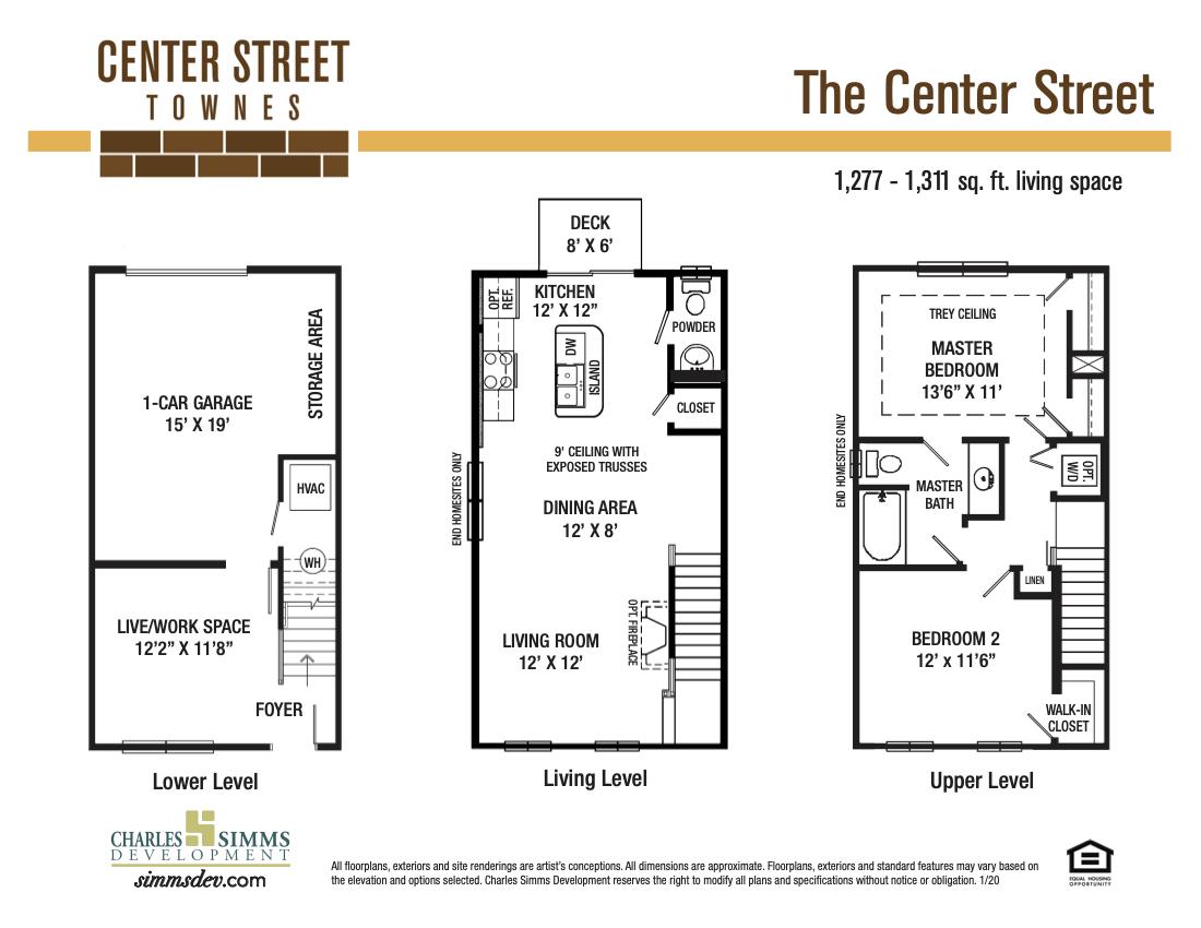 Center Street sitemap